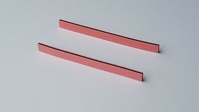 Two Zebra Strips 70 x 5.5 x 2 mm (LxHxW) for LCD Elastomeric Conductive Rubber