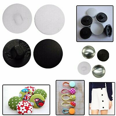 50 x 16L Button Blanks Cover Non Astor Sets White Metal Plastic 10mm Upholstery