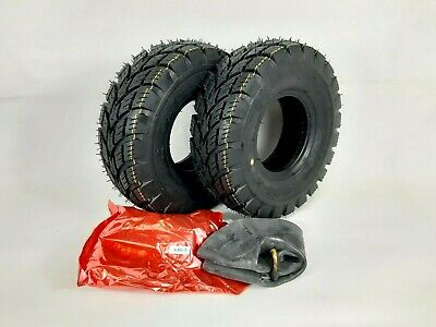 Pair of 4.00-5 (330x100) 4ply Mobility Scooter  Tyres & Tubes