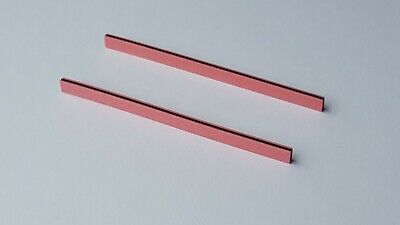 Two Zebra Strips 70 x 4 x 2 mm (LxHxW) for LCD Elastomeric Conductive Rubber