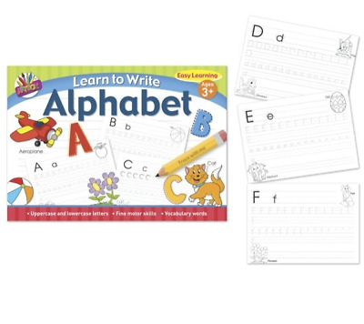 Learn To Write Kids A4 Alphabet Handwriting Practice Letters Book Pad Pre School