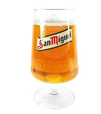 2 x San Miguel Chalice Pint 20oz Glass / Glasses