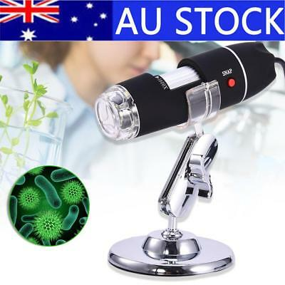 1600x USB Video Camera Digital Microscope Endoscope Magnifier Electronic 8-LED