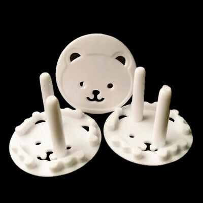 10Pcs Cute Bear Power Socket Cover Plugs Cover Child Baby Safety Protector