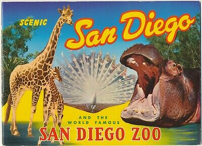 1962 San Diego California and Zoo View Book