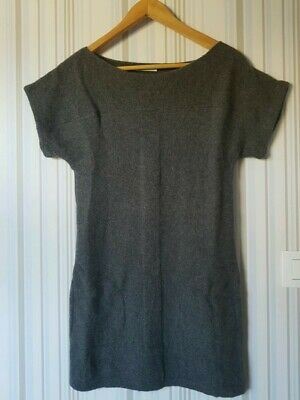 Gris Mailles Courtes En Promod Manches Xs Robe Pull EHIYD2W9