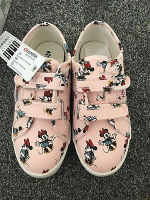 most popular really cheap new photos SUPERGA DISNEY MINNIE Mouse Girls Trainers Size 13 New With ...