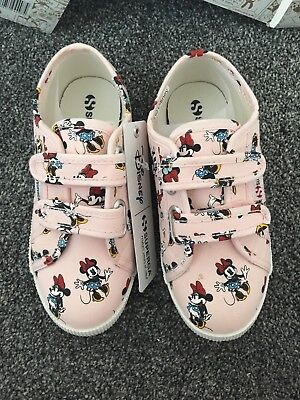 huge discount to buy various colors SUPERGA DISNEY MINNIE Mouse Girls Trainers Size 12.5 New ...