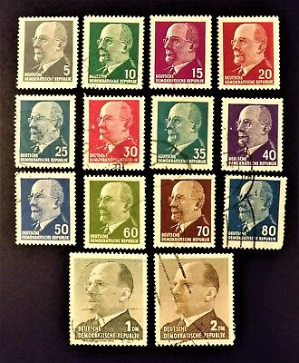 """East Germany 1961 """"Walter Ulbricht"""" Set of 14 stamps"""