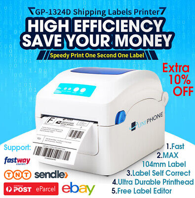 【Free 250 label】QR code Barcode Tag Thermal Label Printer High Speed address