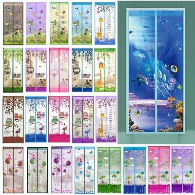 30Style Mesh Door Magic Curtain Net Magnetic Snap Fly Bug Insect Mosquito Screen