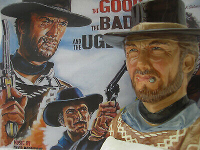 Clint Eastwood. toby jug. prototype.The good the bad and the ugly.cowboy.WESTERN