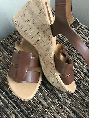 7dbef8167979 WOMENS WEDGE SANDALS Korks By Kork-Ease Brown New Leather Size 8 39 ...