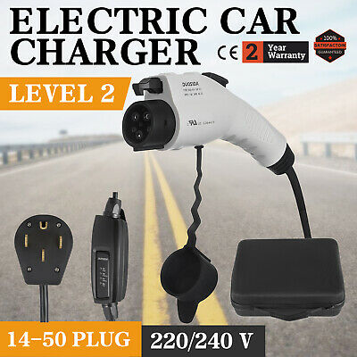 Universal Electric Car Charger 14-50 Plug Level 2 220V EVSE Control Box NEMA