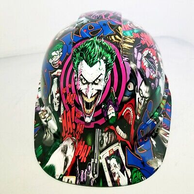Hard Hat custom hydro dipped , OSHA approved CAP COLOR JOKER !!!NEW!!!!