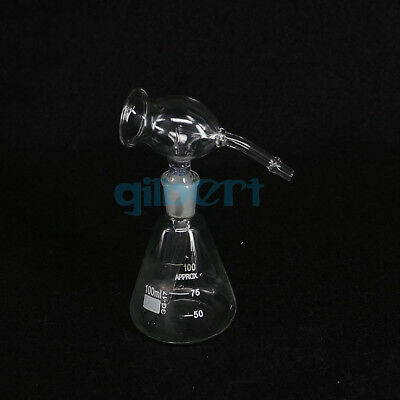 30/50/100ml Lab Glass Chromatography Conical Spray Bottle Ground Joint Spray