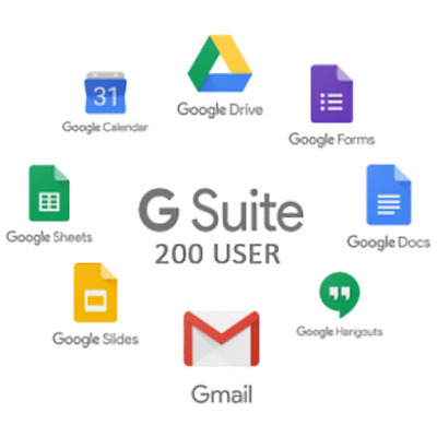 G Suite / Google Apps legacy account 👑 200 Users For Life Time👑