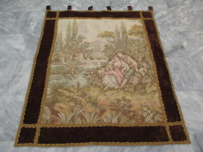 4912 - Old French / Belgium Tapestry Wall Hanging - 120 x 101 cm