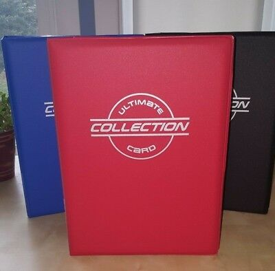 Toploader Binder with 40 Toploader Pages by The Sportstech Co Choose Your Color