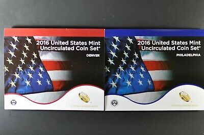 2016 P&D Uncirculated US Mint Set P&D 26 coins UN-OPENED MINT BOX