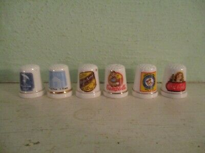 Franklin Mint thimbles - Country Store - Bon Ami, Campbell's, Coca Cola, Ivory