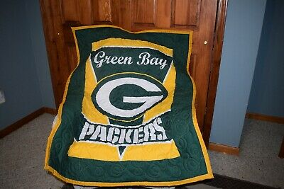 Baby Crib Quilt M/W Green Bay Packers Fabric