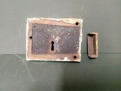 Antique Door Lock  With Brass Keep For Restoration