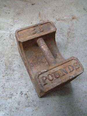 Vintage 56lb Cast Iron Weight