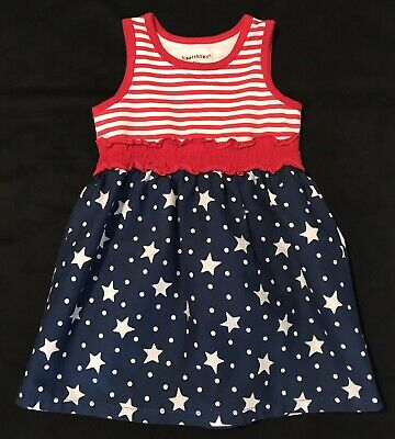 eba1a13d84 Toddler Girl 4th Fourth of July Red White Blue Spring Summer Dress 24 Months