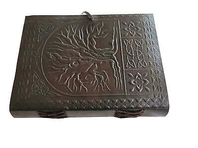 Large Tree of Life Leather Blank Book Diary Journal 200 Pages Beautiful Gift NEW