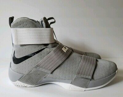 uk availability 40a4a 0d193 Nike Lebron Soldier 10 TB Promo Wolf Grey White (856489-002) size 17.5
