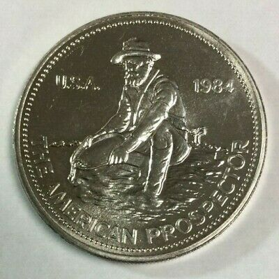 1984 Engelhard - The Prospector - 1 Troy oz .999 Fine Silver Coin SKU#2266