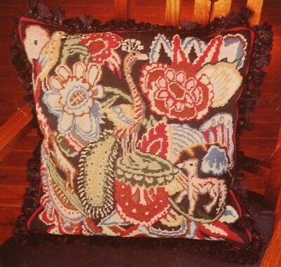 Rare Liberty England Vintage Quintana Needlepoint Tapestry Kit Retired Peacock