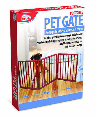 Pet Dog Cat Gate Door wood Barrier Safe Guard Fence Safety Enclosure