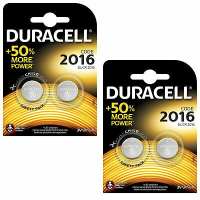 4 x Duracell CR2016 3V Lithium Coin Cell Battery 2016, DL2016, BR2016, SB-T11