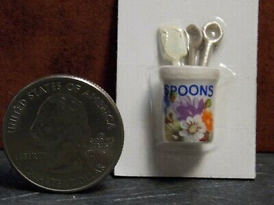 Dollhouse Miniature Kitchen Tools Crock Halloween B 1:12  G61 Dollys Gallery
