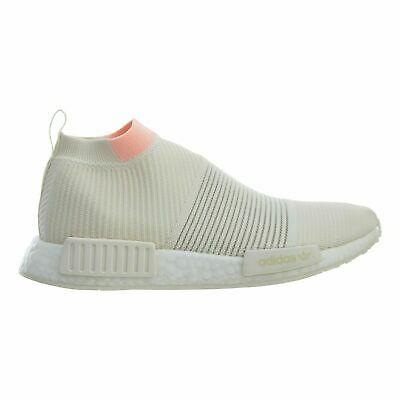 f98061bcd Adidas NMD CS1 PK Womens White Clear Orange Primeknit Running Shoes AQ1136