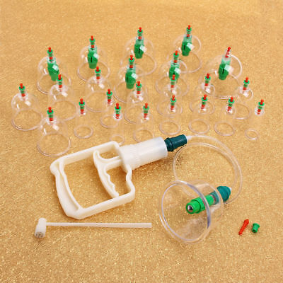 24 Pcs Vacuum Suction Cupping Kit Magnetic Therapy Apparatus Hijama Natural Cure