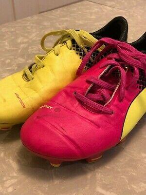 91287b3a2073 Puma youth soccer cleats size 3.5 Kids evoPOWER 1.3 FG – Tricks – Pink Glow