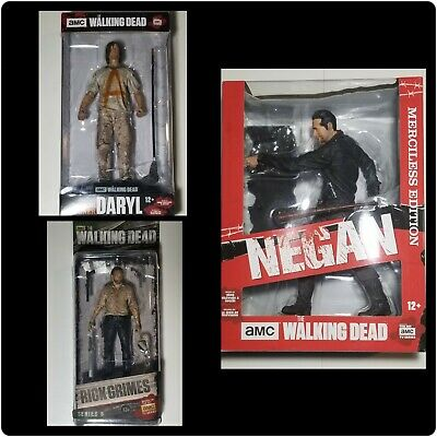 McFarlane Toys The Walking Dead 10.5 Inch Negan Merciless Edition, Daryl & Rick