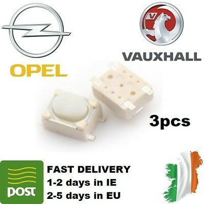 3pcs Micro Switch Key button for Vauxhall Opel 2 3 button remote key repair
