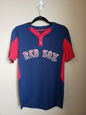 599144c3dd9 Mens Majestic Boston Red Sox 9 Baseball Batting Practice Cool Base Jersey  Small