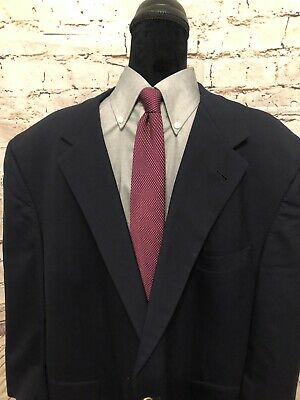Mens Navy Blue BURBERRY LONDON Blazer Awesome Buttons 50pt Sport Coat