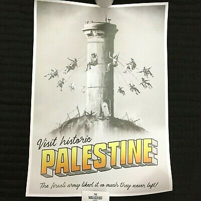 Banksy THE WALLED OFF HOTEL Palestine Poster Stamp And Receipt Limited Bethlehem