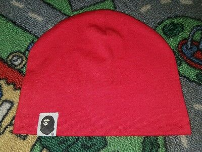 BABY BOYS Sz 0 red beenie CUTE!