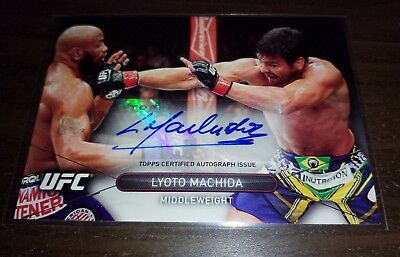 LYOTO MACHIDA Autograph - 2015 Topps UFC High Impact - signed card MMA
