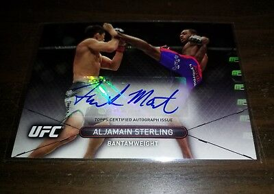 ALJAMAIN STERLING Autograph - 2015 Topps UFC High Impact - signed card MMA