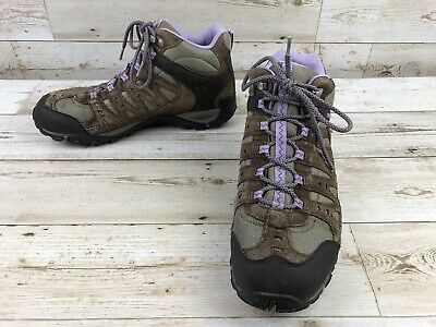 82cd5acf728 MERRELL ACCENTOR MID Waterproof Brown Athletic Hiking Boots Womens Size 11  Shoes