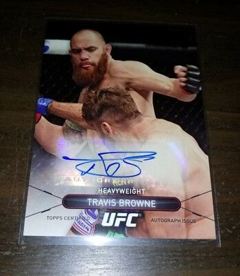 TRAVIS BROWNE Autograph - 2015 Topps UFC High Impact - signed card MMA