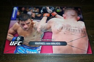 2015 Topps UFC High Impact Ruby Red 3/8 #20 - RAFAEL DOS ANJOS - MMA card